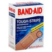 Johnson & Johnson Band Aid Tough Strips Waterproof Adhesive-20ct