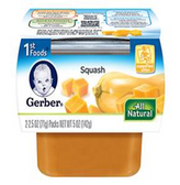 Gerber All-Natural - Squash -2ct