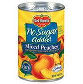 Delmonte Sliced Peaches No Sugar Added - 15.25 oz