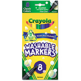 Crayola Washable Markers - Fine Point - 8 Pack