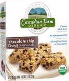 Cascadian Farm Chewy Granola Bars - Chocolate Chip -6 bars