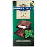Ghirardelli Chocolate Squares DarkChocolate w/Mint Prestige-3.5o
