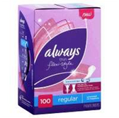 Always Flexistyle Thin Unscented Pantiliner - 100 Count