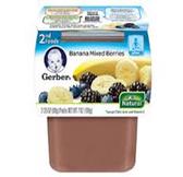Gerber All-Natural - Banana Mixed Berries -2ct