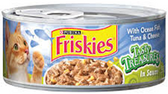 Friskies Tasty Tresure Chunky Tuna & Cheese -5.5oz