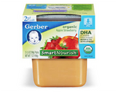 Gerber Organic 2nd Food - Apples and Strawberries