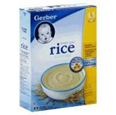 Gerber Baby Cereal - Rice