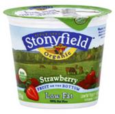 Brown Cow Organic Strawberry Fruit On The Bottom Yogurt