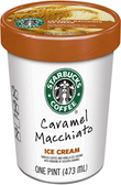 Starbucks Coffee Ice Cream - Caramel Machiatto -16oz