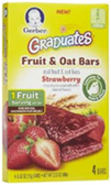 Gerber Graduates Fruit Fruit Bars Strawberry-2.12oz