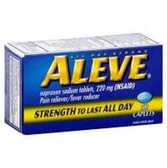 Aleve Naproxen Sodium Caplets - 50 Count