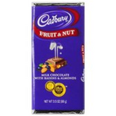 Cadbury Fruit & Nut Milk Chocolate -3.5 oz
