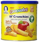 Gerber Graduates Lil Crunchiess Apple Saweer Potato -1.48oz