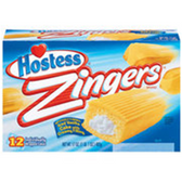 Hostess Zingers w/ Cream Filled Cakes -12 pk