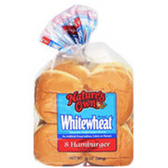 Nature's Own Sliced Enriched White Wheat Hamburger Buns-8 ct