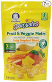 Gerber Graduates Fruit & Vegetable Melts Veggie Snacks-1oz
