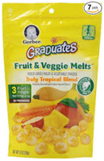Gerber Graduates Fruit & Veggie Melts Truly Tropical-1 oz