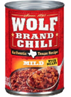 Wolf Mild Chili with Beans, 15 OZ
