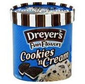 Dreyers / Edys Grand Cookies N Cream Ice Cream-1.5 qt