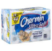 Charmin Ultra Soft Double Roll Bathroom Tissue - 6 Roll