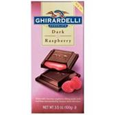 Ghirardelli Squares Dark Chocolate w/ Raspberry Prestige-3.5 oz