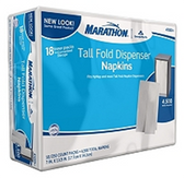 Marathon 1 - Ply Dispenser Napkins