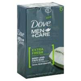 Dove Mens Extra Fresh Bar Soap - 6-4.25 Oz