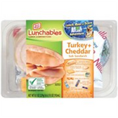 Lunchables Turkey & Cheddar Sub Sandwich -4.7 oz