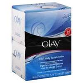 Olay 2 In 1 Daily Facial Cloths Combination/Oily - 66 Count