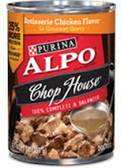 Alpo Chop House Dog Food Rost Series Chiken Flavor In Gravy-13oz