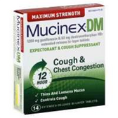 Mucinex Dm Expectorant Cough Suppressant Tablets - 14 Count