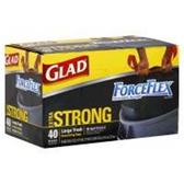 Glad Forceflex Large Trash Drawstring Bags - 38 Count