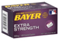Bayer Extra Strength Asprin 500 mg Coated Caplets, 100 CT