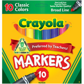 Crayola Washable Markers - Bold Colors - 8 Pack