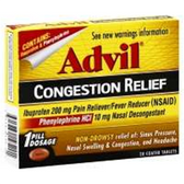 Advil Congestion Relief Coated Tablets - 20 Count