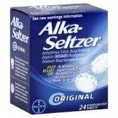 Alka Seltzer Effervescent Antacid Tablets - 24 Count