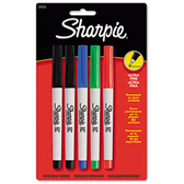 Sharpie Fine Poing Permanent Markers - Assorted  - 4 Pack