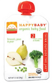 Happy Baby Organic Baby 2nd Food - Broccoli, Peas & Pear