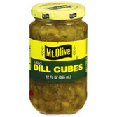 Mt Olive Dill Cubes -12 oz