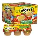 Mott's Variety Pack Apple Sauce - 36 Cups