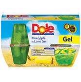Dole Fruit Bowls in Lime Gel Pineapple - 4 pk