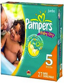 Pamper's Baby Dry 27+ lb. -27ct