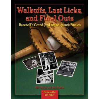 Walkoffs, Last Licks, and Final Outs is the definitive collection of baseball's grand — and not-so grand — final acts. It celebrates the moments that became instant classics — like Carlton Fisk waving fair his home run in the 1975 World Series — and memorializes those tragedies from baseball's ignominious lore — like Fred Merkle failing to touch second base and forcing a 1908 National League tiebreaker.