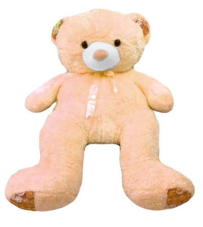 Human size Cream Teddy Bear 4'6 Feet (1,50 meters) - Best Seller!