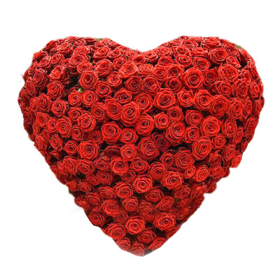 144 Red Roses Heart Bouquet