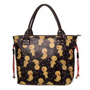 Voodoo doll tote hand bag front