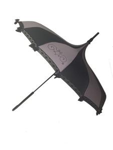 Gray and black umbrella