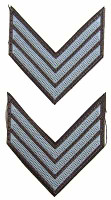 ITPT Misc: Civil War - Grey Shoulder Patches w/ 3 Chevrons