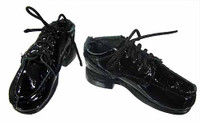 Indigo - Black Lace Up Shoes (for feet)