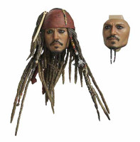 Pirates of the Caribbean: DX Jack Sparrow - Head w/ PERS Eyes (Includes Swapable Face)
